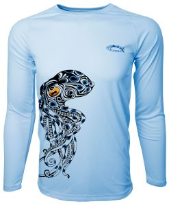 Second Skin Rashguard Bluering Octopus