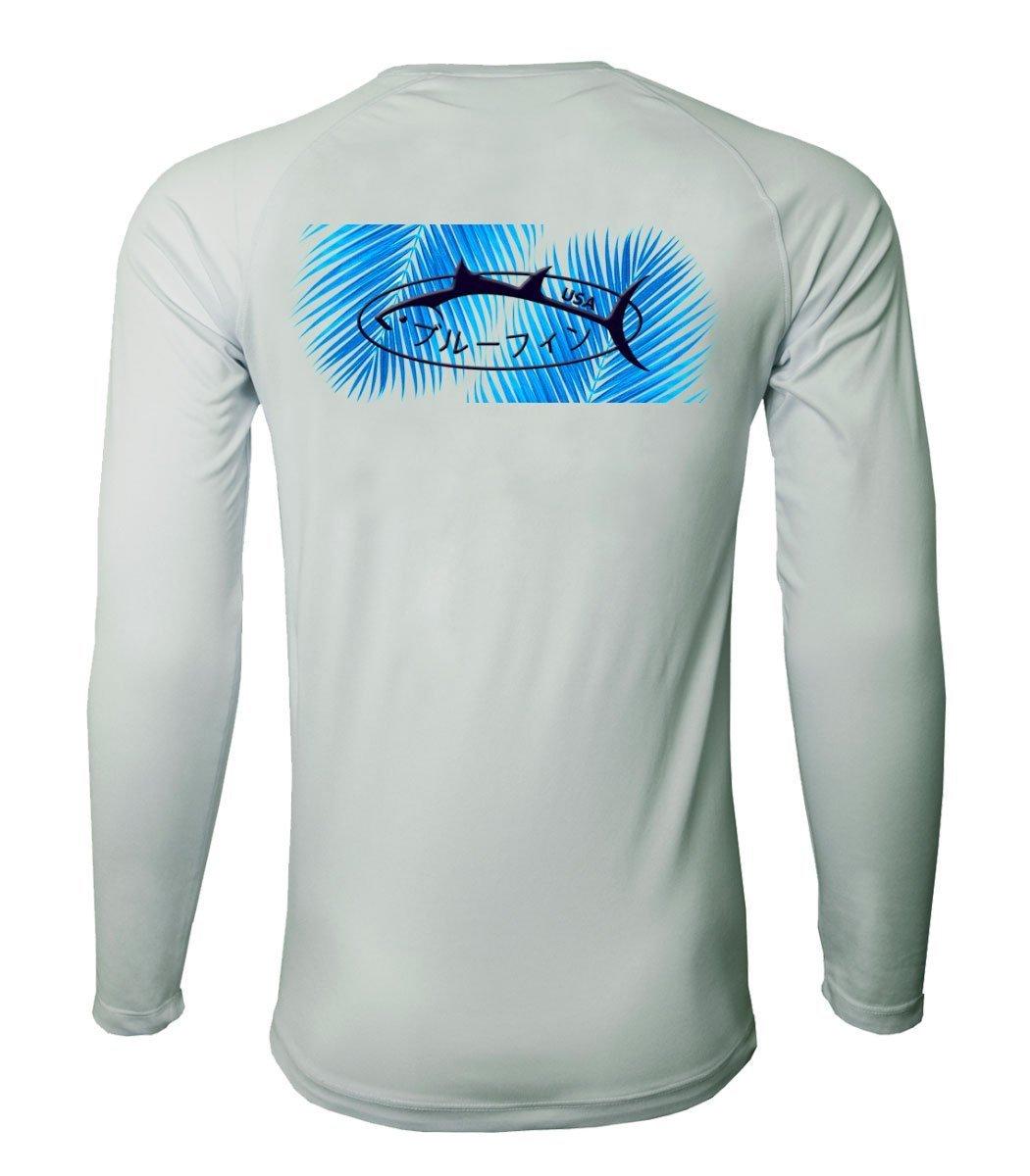 second skin rashguard logo palm bluefinusa